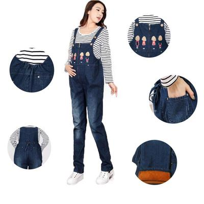 a289bf80793 Women s Large Size Suspender Trousers Maternity Clothing Pants Spring  Autumn Cartoon Owl Cotton
