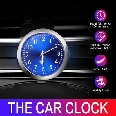 Car Clock Air Conditioner Vest Hour for Car Dashboard Office Workbench or Locker