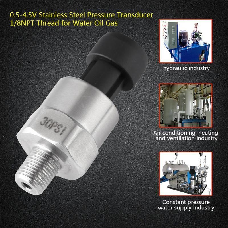 Pressure transducer or sender sensor 300psi for oil air Stainless steel fuel