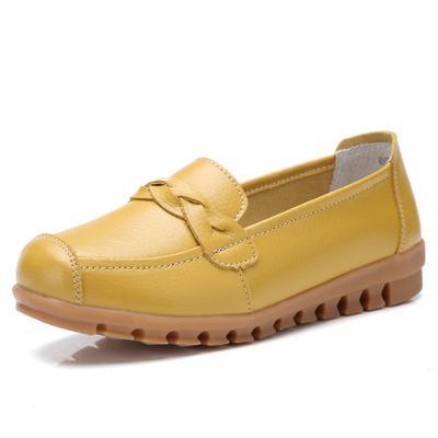 7cb2c222a Cuero zapatos mocasines madre mocasines Soft ocio pisos mujer calzado  Casual de conducción