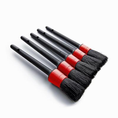 Car Detailing Brush 5 Pcs Black Automotive Clean Wheels Vents Emblems Brushes