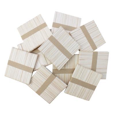 Wedding Fan Handles Wavy Jumbo Handle 8 Great For Crafts WoodU Craft Wood Fan Sticks Long Wooden /& Wavy Tongue Depressors Paint Sticks 100Pc
