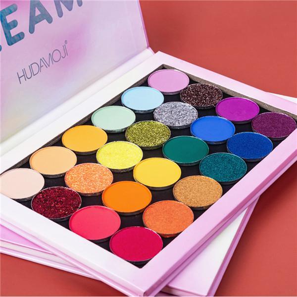 24 цвета палитры теней для век Перламутровые матовые водостойкие легкие цветные тени для век стойкий макияж глаз – купить по низким ценам в интернет-магазине Joom