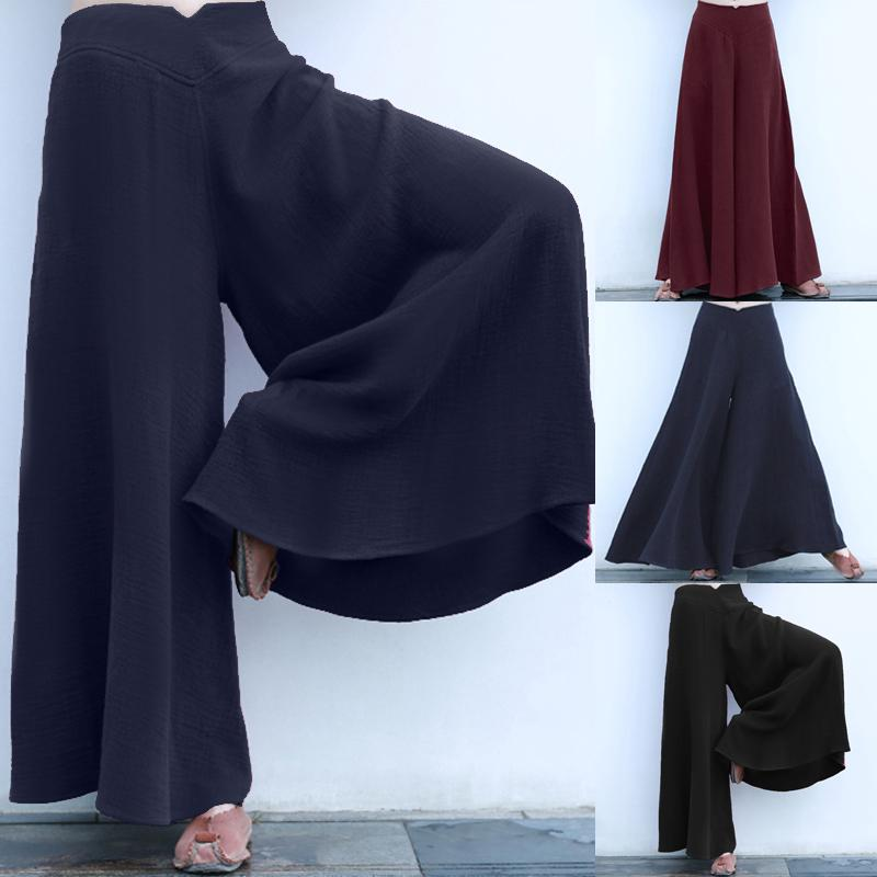 Oversize Womens Palazzo Wide Leg Pants Culotte Long Loose Baggy Yoga Trousers