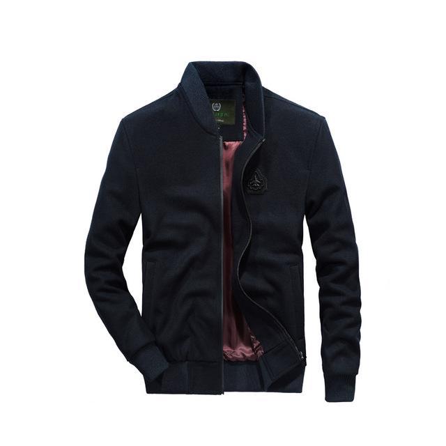 Mans Stand Collar Waist Length M-4XL Plus Sz 4Colors Zipper Casual Jackets Coat