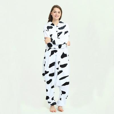 Унисекс животных Косплей костюмы коралловые флис молочные коровы пижамы  пижамы Комбинезоны Спецодежда Комбинезоны 996c1f2f43911