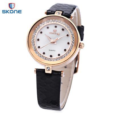 SKONE 9379 Female Quartz Watch Artificial Diamond dial Solid Mirror Imported Movt Wristwatch