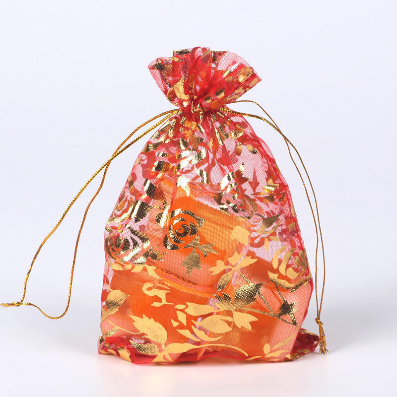 100pcs 12x9cm Gauze//Organza Gift Candy Bags Wedding Party Favors Jewelry Packing