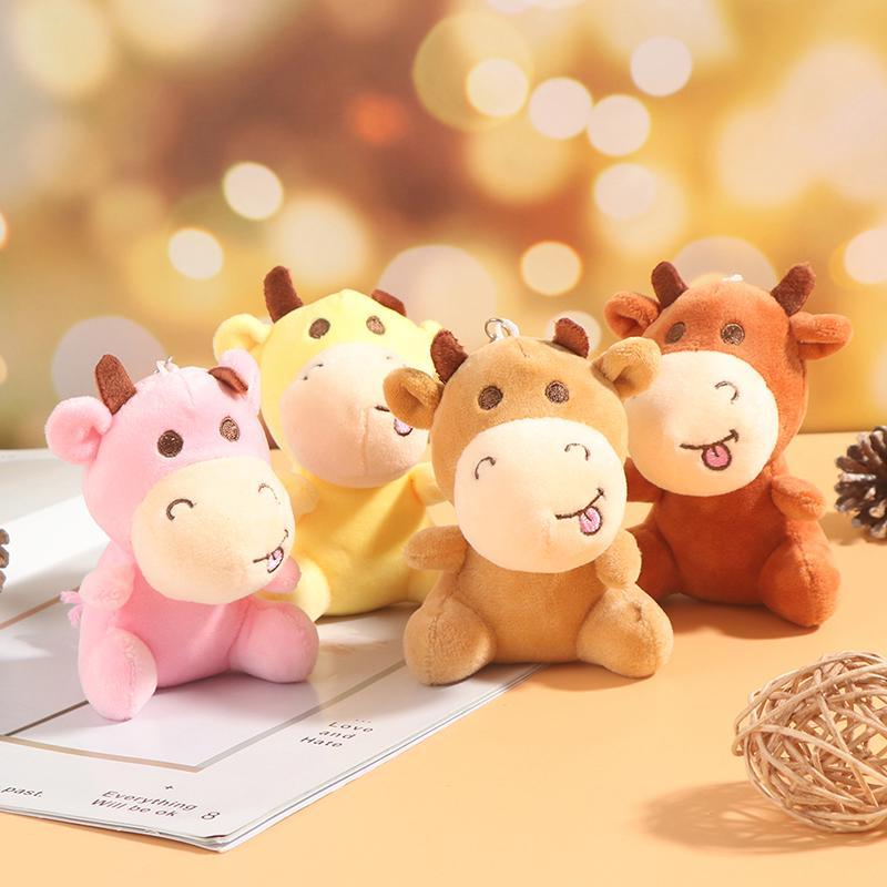 Chinese Soft Creative Toy Plush Doll New Year Stuffed Bull Gift Pillow Cushion