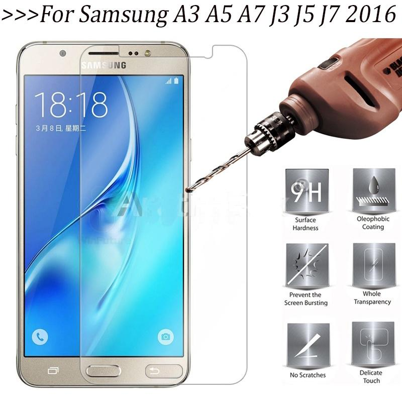 Протектор экрана телефона упрочненные зад защитная пленка для Samsung A3 A5 A7 2016 2017 J3 J5 J7 фото