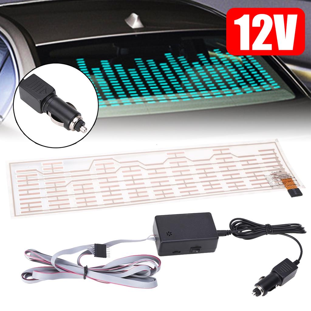 Car Music Rhythm Lamp LED Flash Light Speakers Sticker Sound Activated Equalizer