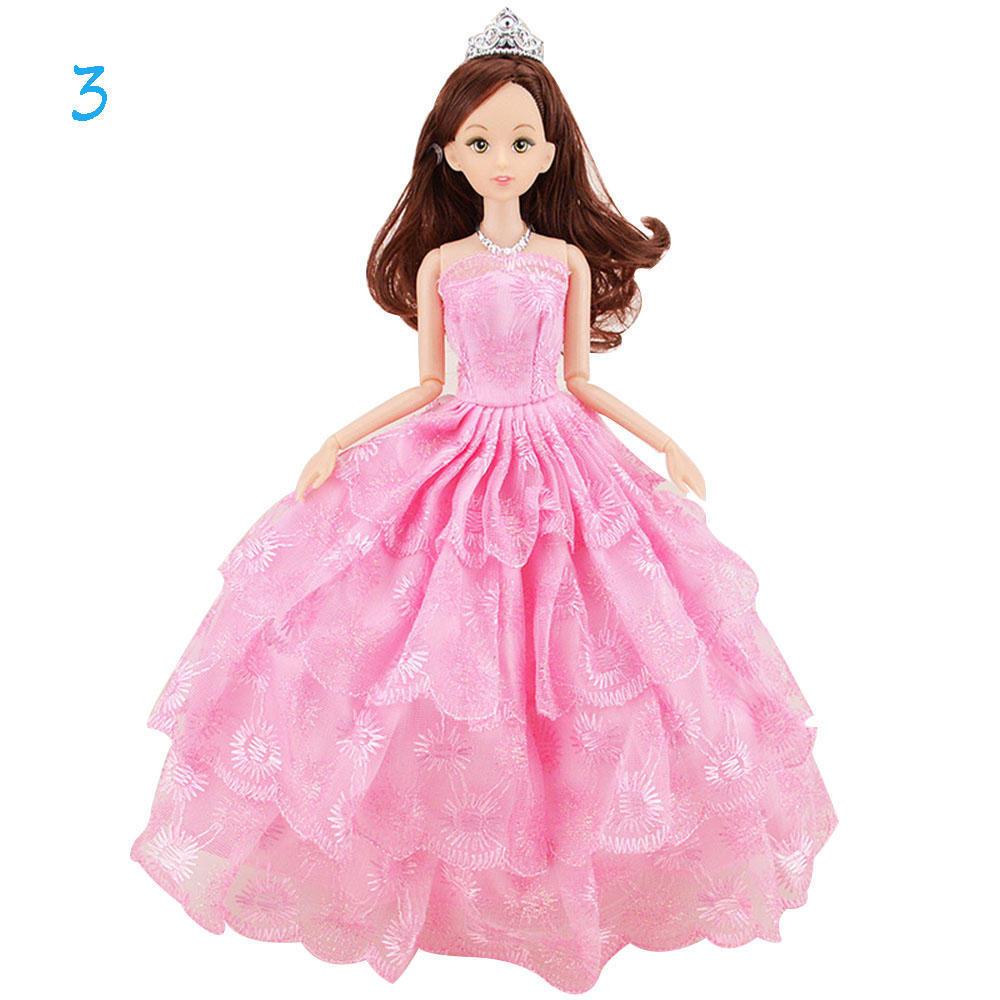 Traje de la boda la novia corona poligonal falda Mini vestido muñeca ...