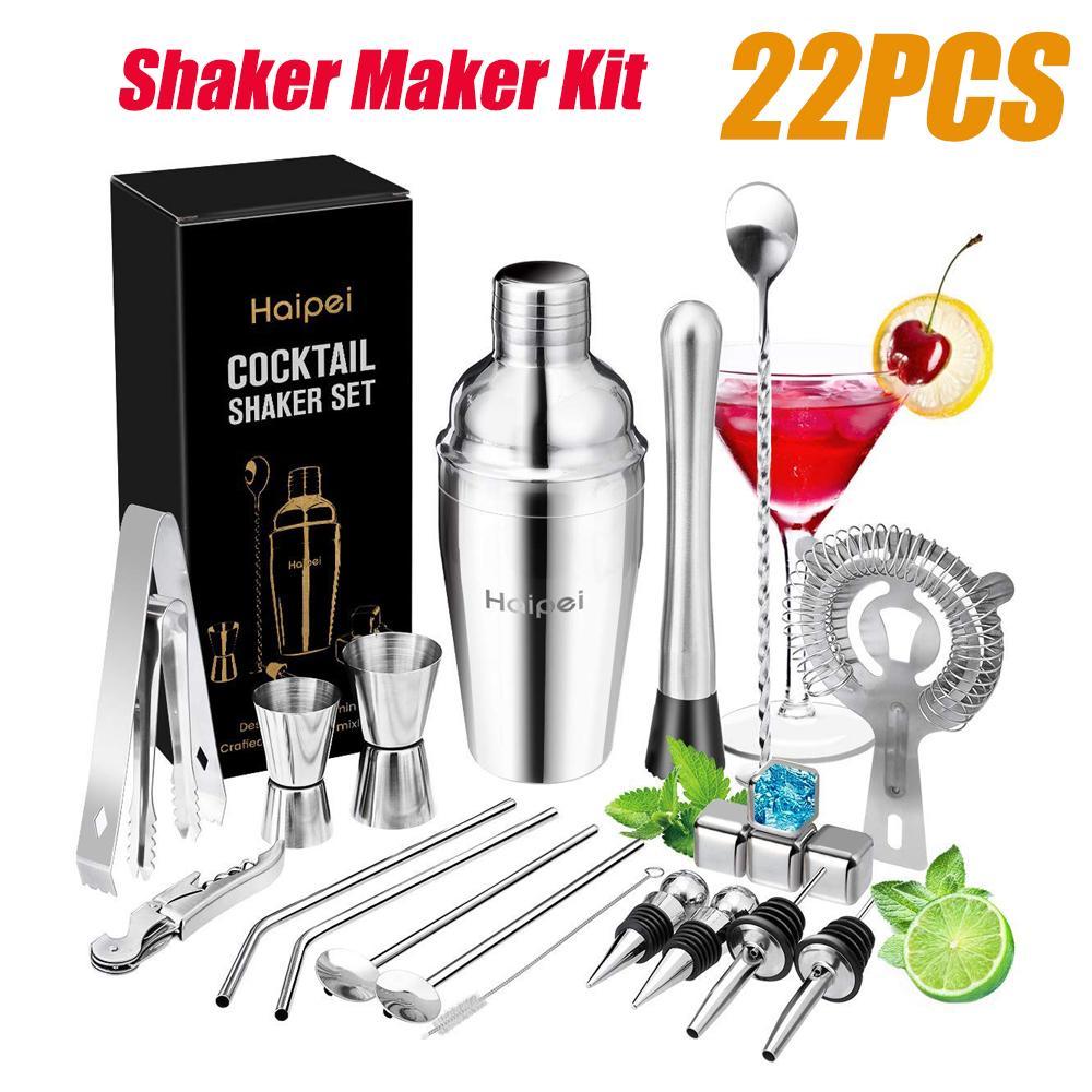 12pcs//Set Pro Stainless Steel Bar Kit Home Cocktail Shaker Set-Bar Tool Set USA