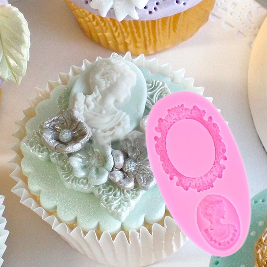Decoración De Pasteles Molde Silicona Flor Rosa Camafeo formas Fondant Molde azúcar Craft