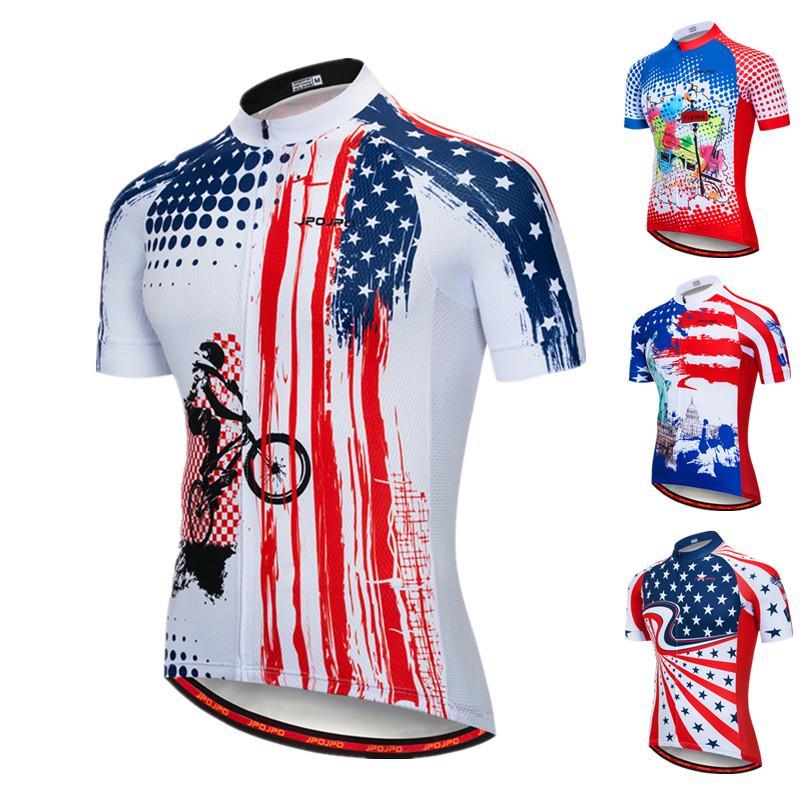 JPOJPO Mens Cycling Jersey Set,Bicycle Clothing Pro Team Short Sleeve MTB Bike Clothing Ropa Ciclismo,