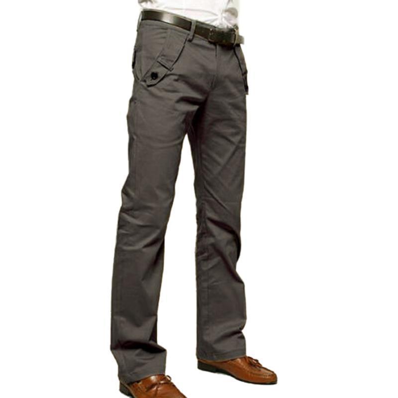 男士休闲裤纯棉时尚小直筒裤 时尚商务休闲裤 男长裤