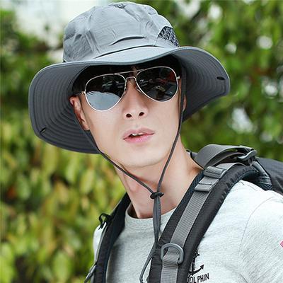 Mens hat Summer Outdoor Leisure Cap Along The Sun-Visor UV Sun Hats Hiking Hats Fishing Hat