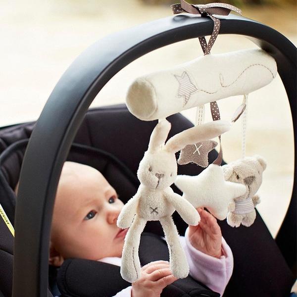 Аксессуары детские коляски шумовой кровать Белл дети детские мягкие игрушки развития Игрушка животных колокольчики фото