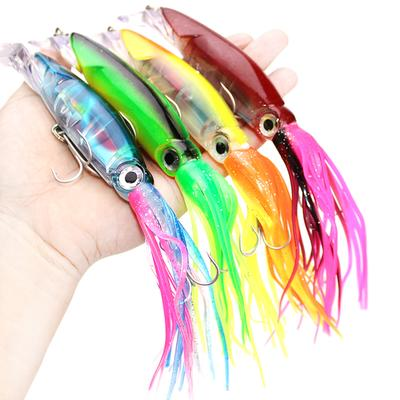 6pcs Octopus Squid Jig Fishing Lures Trolling Big Game Saltwater Soft Bait Lures