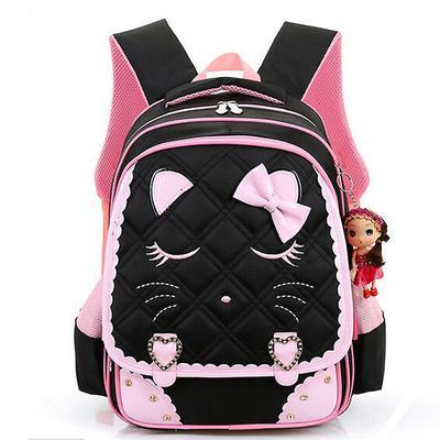 99a053c9a mochila princesa mochilas niños mochilas chicas lindo gato Mochila Infantil  dibujos animados mochila