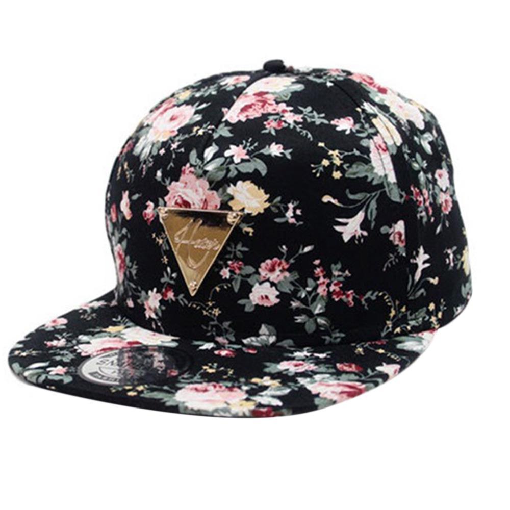 Los hombres para béisbol Cap Hip Hop tapas flor Floral Snapback sombrero  sol plana ajustable hip-hop sombreros mujeres - comprar a precios bajos en  la ... 5436204fc3f