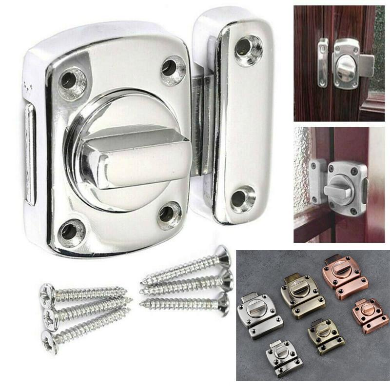 Lock Chrome Bathroom Door Toilet, Bathroom Door Bolt Lock