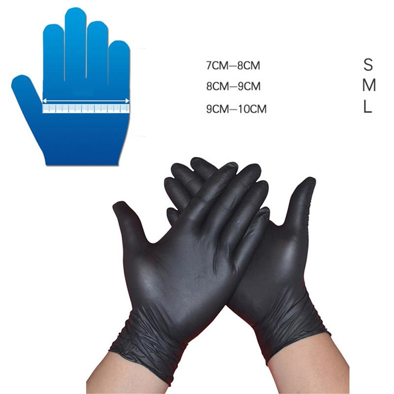 Black Safety Mechanic Nitrile Gloves Latex Powder Free Workshop S//M//L 100pcs sz
