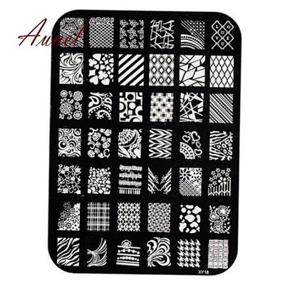 heart flower stencil stamp plate polish nail art stamping template