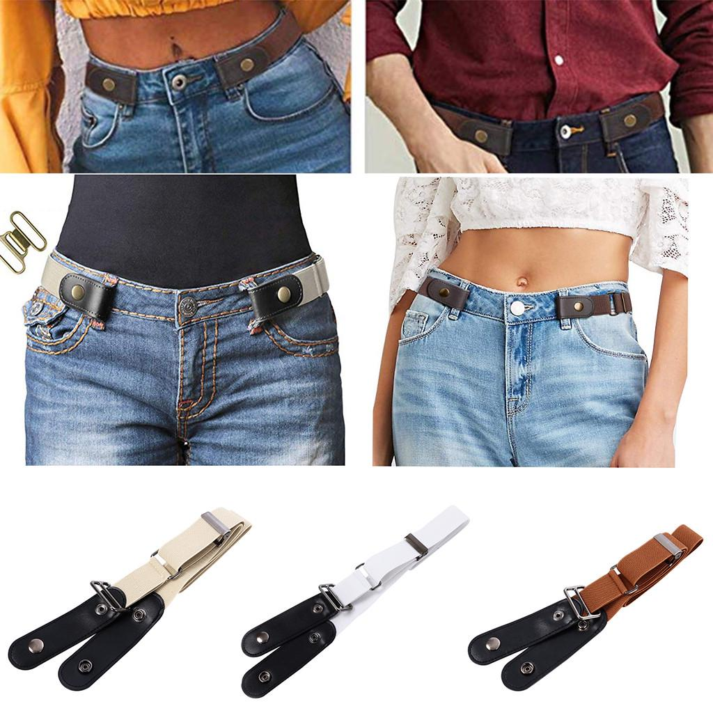 Buckle-free Elastic Women Invisible Belt for Jeans No Bulge Hassle 19 Colors