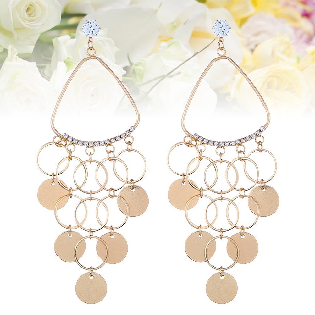 Romantic Womens Earrings Jewelry Chic Charm New Fashion 1Pair Faux Diamond Y2