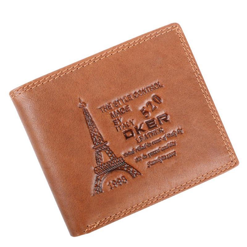 8eb24b42e627 Бренд мужчин Кошельки Кожа мужской кошелек кредитной карты держатель ...