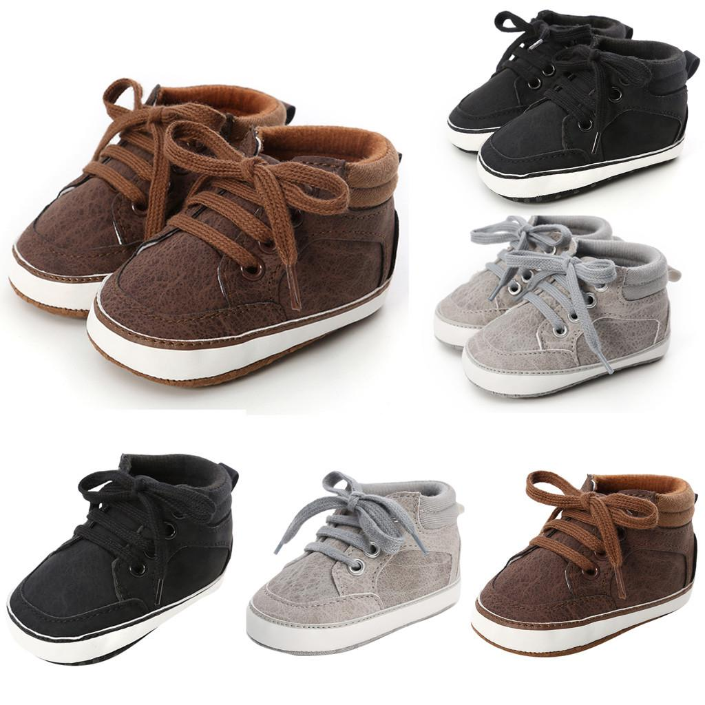 Baby Kid Girl Boy Cross-tied Shoes Newborn Toddler Infant First Walkers Sneakers