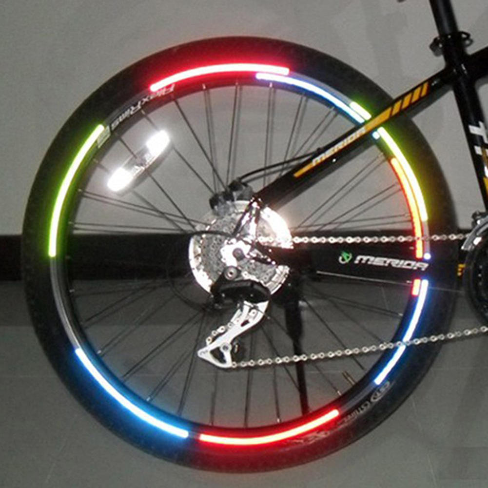 Bike Reflective Stickers Motorcycle Fluorescent Decal Warning Cycling Accessorie