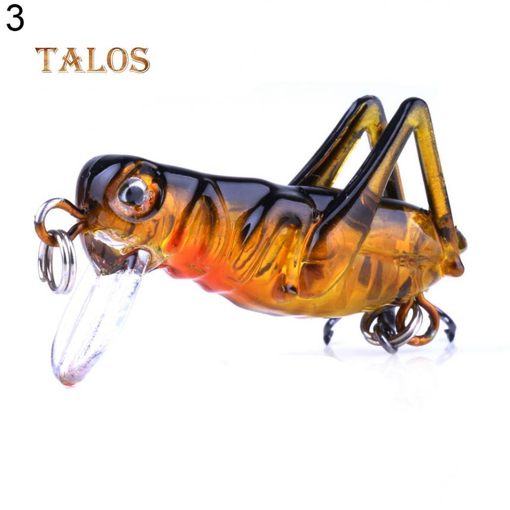 5PCS 3.3cm//3g Insect Baits Simulation Grasshopper Freshwater Hard Baits Fake Bai