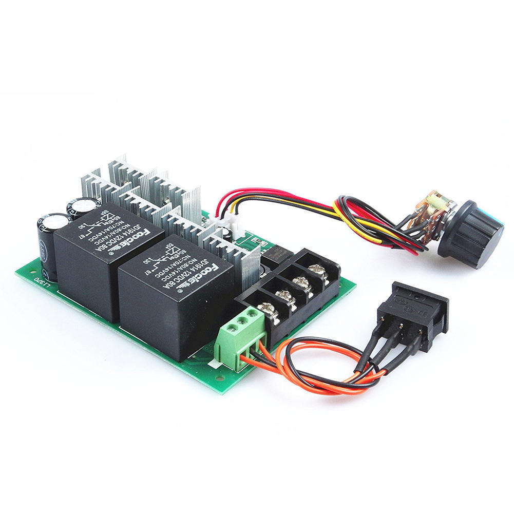 Knacro Pwm Speed Controller Electronic Governor 40a Dc 10v 50v Motor With Adjustable Delay Timer 2 Of 4