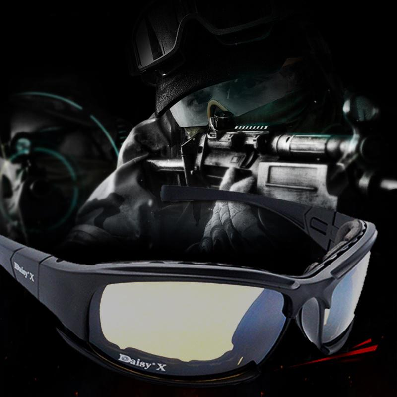 6015579962f DAISY X7 Goggles 4LS Men Military Polarized Sunglasses Bullet-proof ...