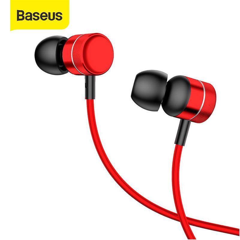 Baseus в ухо наушники бас гарнитура стерео наушники с микрофоном для наушников для Samsung фото