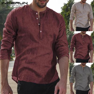 XXL,Dark red Mens Long Sleeves Pure Cotton Plaid Lapels Casual Button Down Shirts