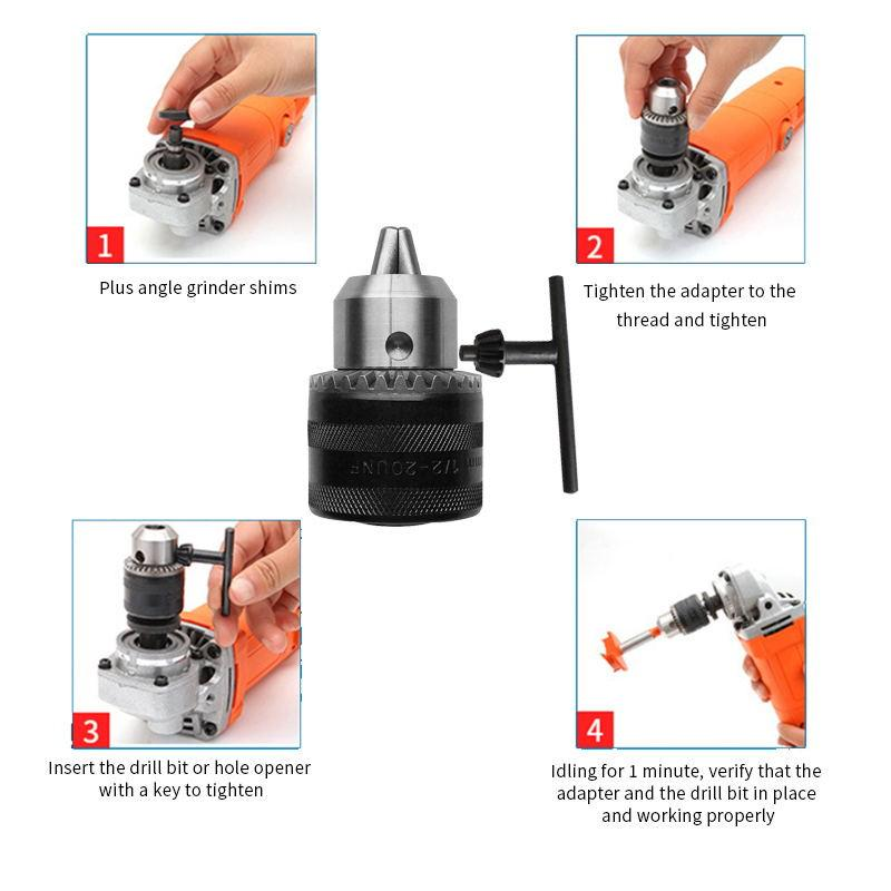 Angle Grinder Electric Drill Chuck Conversion Joint Multifunction Adapter Tools