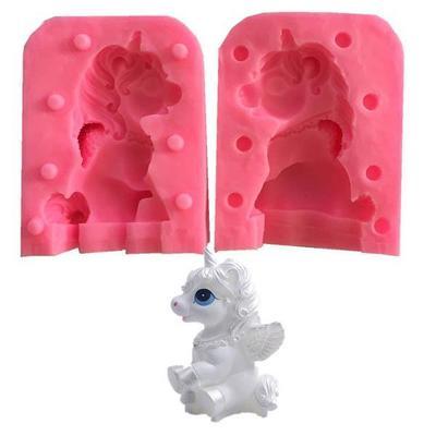 3D Unicorn Shape Silicone Mold Soap Fondant Chocolate Moulds Candy Cake Molds Embossed Baking Molds