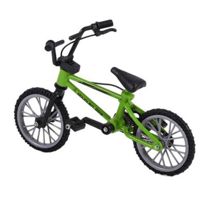 Mini Desk Gadget BMX Bicycle Model Finger Board Bike Toy Kids 2 Bikes Red,Green