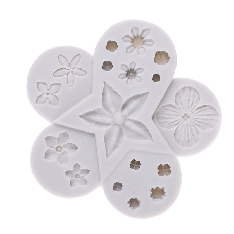 Silicone Cake Mold 3D Flower Shape Fondant Mould Chocolate Decorating Tool F4T7