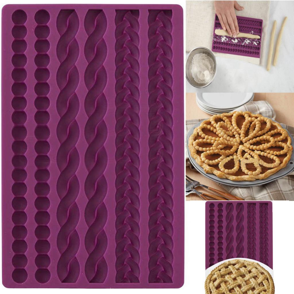 Corde À Tricoter Silicone Fondant Moule Chocolat Gâteau Bakeware Topper frontière Moule