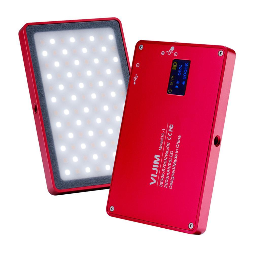 Vijim VL-1 Mini 96 granos en la Cámara de Vídeo LED Lámpara luz de relleno 3000-6500K magnético