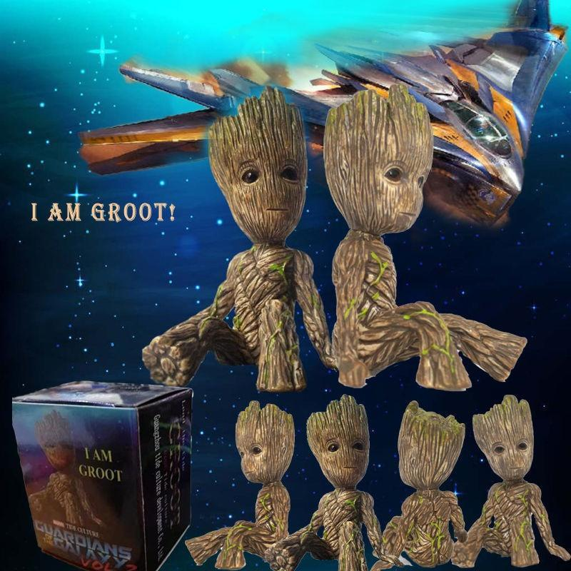 2 Groot Doll PVC Vinyl Figurine Figure Baby Toys Guardians of the Galaxy Vol