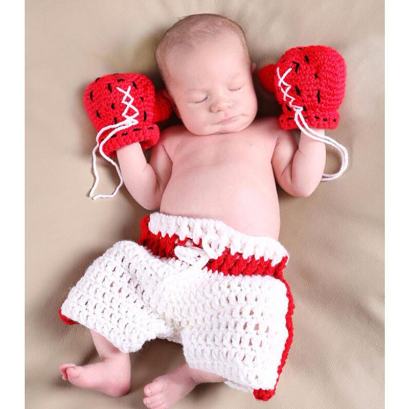 1 bebé set fotografía Ropa bebé Crochet apoyos de la foto recién ...