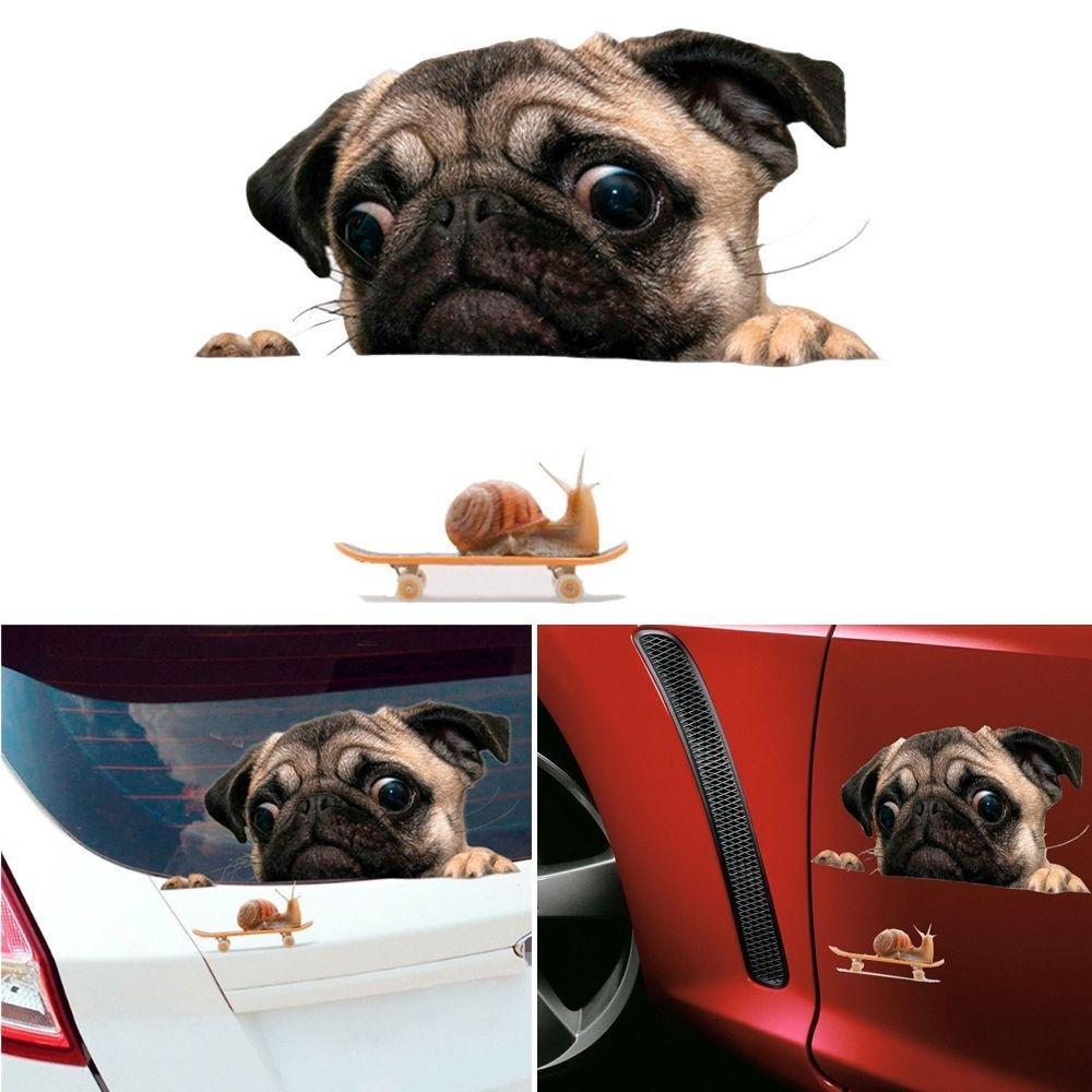 Funny Husky Dog Middle Finger Flip Off Window Car Sticker Truck Bumper Laptop J
