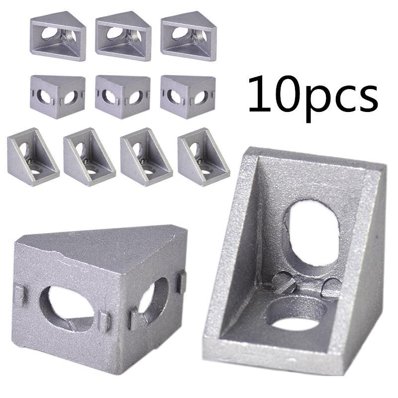 10Pcs 3030Corner Bracket L Shape Right Angle Joint Brace Fastener Home Hardware