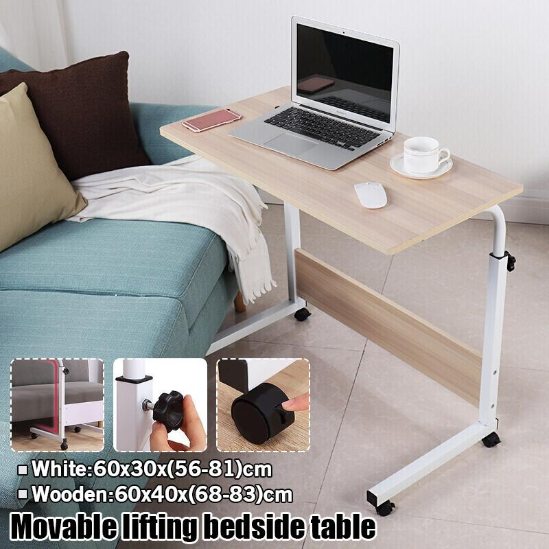 2 Models Foldable Computer Table, Portable Folding Desk Pc Laptop Bed Table