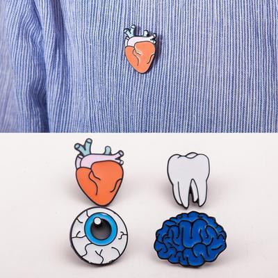 1 x regalo creativo órganos humanos ramillete broche cerebro ojo dientes pernos de la broche del corazón